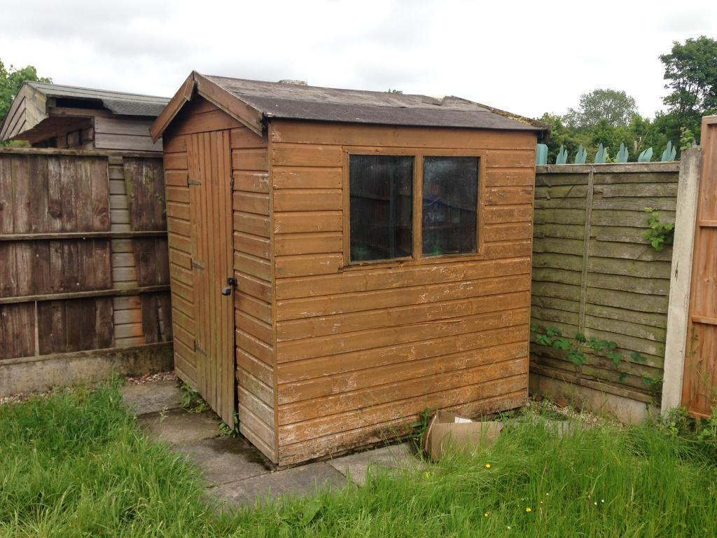 wooden garden shed 6x6 ft
