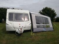 (2009) Swift Abbey Vogue 2 540- 6 Berth Touring Caravan, Motor Mover & Large Blow Up Kampa Awning
