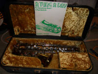vintage 1960 alto saxaphone p and c badged locally purchased in 1960 new