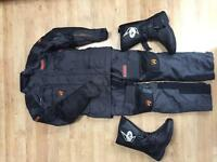 Akito Textile Motorbike Suit and Nitro boots