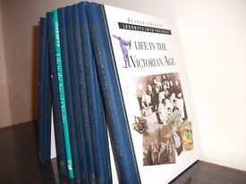 """Reader's Digest set of 8 books """"Journeys into the Past"""" printed 2001"""