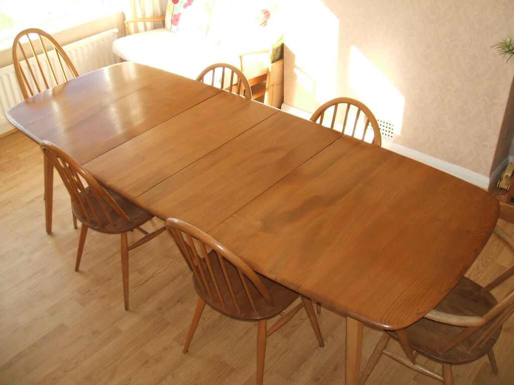 Ercol Grand Windsor Extending Dining Table Plus Ercol 6  : 86 from www.gumtree.com size 1024 x 768 jpeg 97kB