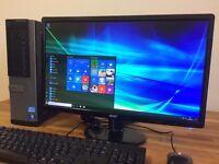 "***FULL SET DELL 990 - Windows 10 - i3 3.30Ghz - 4GB Ram + 22"" FULL HD Monitor Desktop Computer PC"