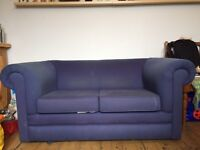 Free two seater blue sofa