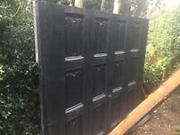 Quality garage black ash door