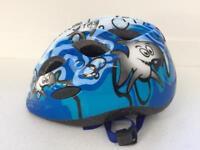 Toddler Boys Girls blue shark bike cycle helmet
