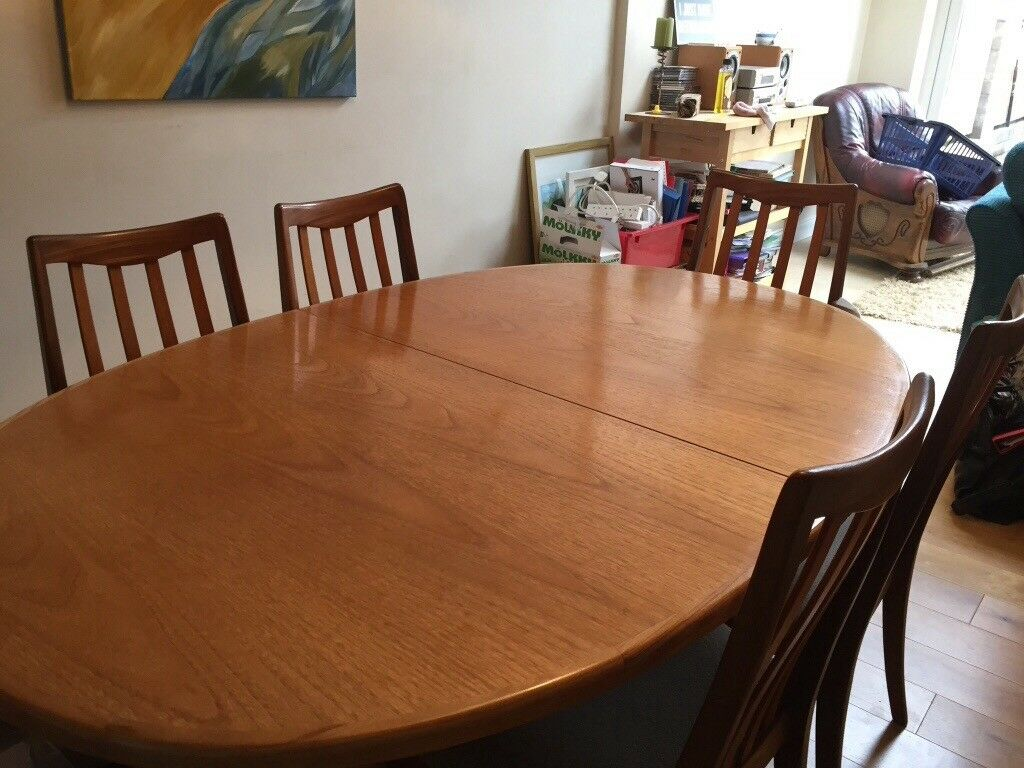 G Plan Dining Room Table And 6 Chairs