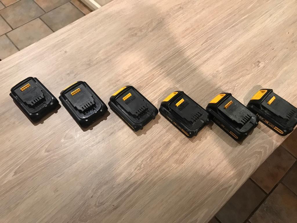 Dewalt battery's