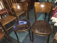 Nice Set of 2 Bentwood Cafe Chairs Made In Poland