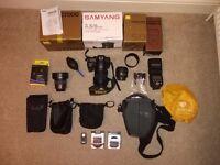 Nikon D7000 camera and accesories NIKKOR 50mm ,Samyang 8 mm fisheye ,YongNuo YN-560 III Flashgun