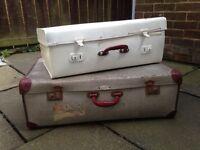 Retro suitcases