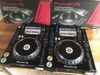 Pair of Pioneer CDJ 2000 NXS2 Nexus 2 DJ Decks - Mint - Boxed