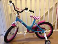 Girls pink and blue bike