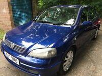 Vauxhall Astra SXI 16V 1598cc petrol 5 speed manual 5 door hatchback 53 Plate 31/12/2003 Blue