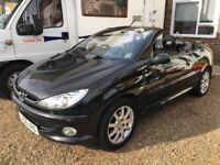 Peugeot 206 cc convertible 1.6 petrol with 12 months M.O.T ( only 2 previous owners) x x x x x x x