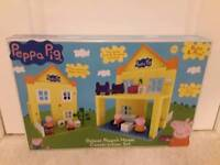 Pepper pig house lego construction set played new