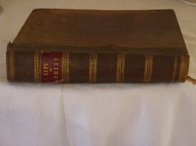 RARE ANTIQUE BOOK (THE LIFE OF OUR LORD SAVIOUR JESUS CHRIS. HARDBACK 1871 BY REV. JOHN FLEETWOOD