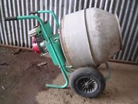 A used Imer petrol cement mixer