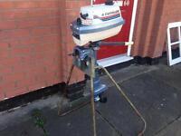 Evinrude 4hp twin cylinder short shaft outboard motor working order