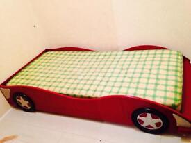 Kids Race-car Bed (single) + mattress