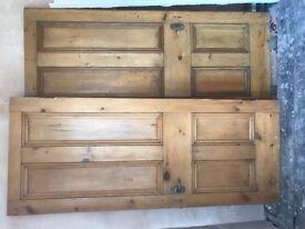 3 Victorian style wooden 4 panel internal doors