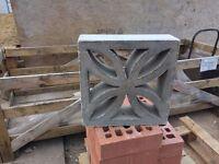 Decorative concrete blocks - 19 in total