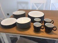 Denby Everyday Black dinner set