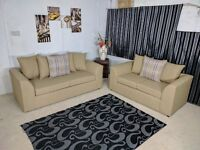 **EXPRESS DELIVERY** BRAND NEW STYLISH CHARLES CORNER/ 3 + 2 SOFA UNIT ON SPECIAL OFFER