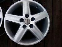 Audi genuine 17inch alloys alloy wheels no tyres