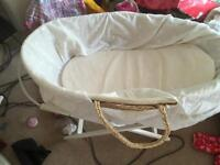 Moses basket and stand open to sensible offers