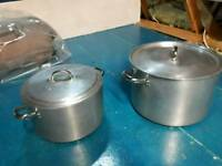 2 large catering pans