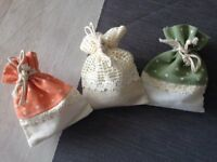Sachets for wedding favours