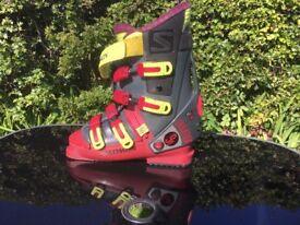 Salomon Evolution Ski Boots and carry bag