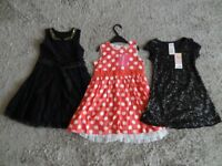GIRLS DRESSES AGE 3 - 4 YEARS x 3