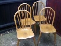 4 wooden seats/chairs