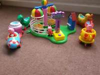 Peppa Pig theme park balloon ride and train sets