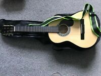 SX Acoustic Guitar - SG14 3/4 guitar & Accessories