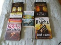 Used Kathy Reichs crime novels.