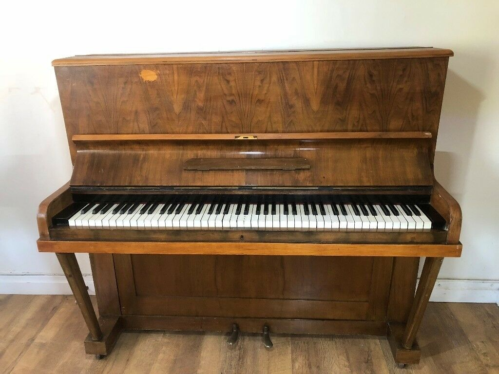 Upright Light Brown Piano in Good Used Condition Fully Working FREE LOCAL DELIVERY POSSIBLE