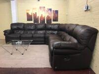 Extra Comfy Large Leather Corner Sofa