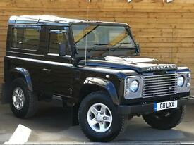 Land Rover Defender 90 County Station Wagon TDCi [2.2] VERY LOW MILEAGE (santorini black) 2014