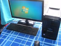 quad-core pc 2.4ghz 3gb ddr 3 500gb harddrive wireless samsung 22 inch screen