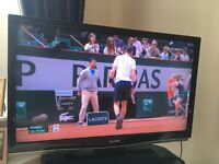 """46"""" SHARP HD LCD TV WITH FREE VIEW, REMOTE CONTROL,HDMI, SCART FREE DELIVERY IN LONDON"""