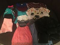 Girls summer clothes bundle size 9 to 13