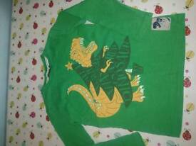 Fat face long sleeve top age 8-9 dino