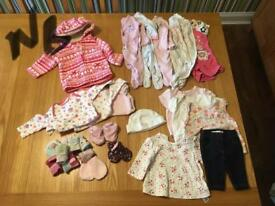 Newborn girls clothes bundle