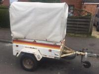 Factory built all metal trailer + high canopy/spare wheel