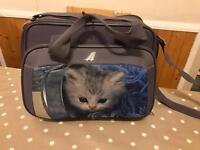 """Travel bag with picture of """"cat"""" on"""
