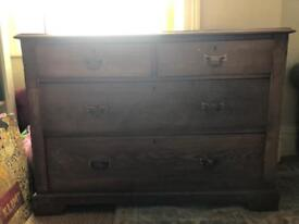 Solid oak sideboard/ chest of drawers