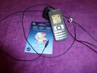 Nokia Phone, working, with brand new unused 02 simcard (2710) ?